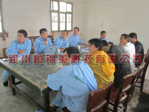 恒锦莱技术老师在潢川豫鸣猪场现场培训